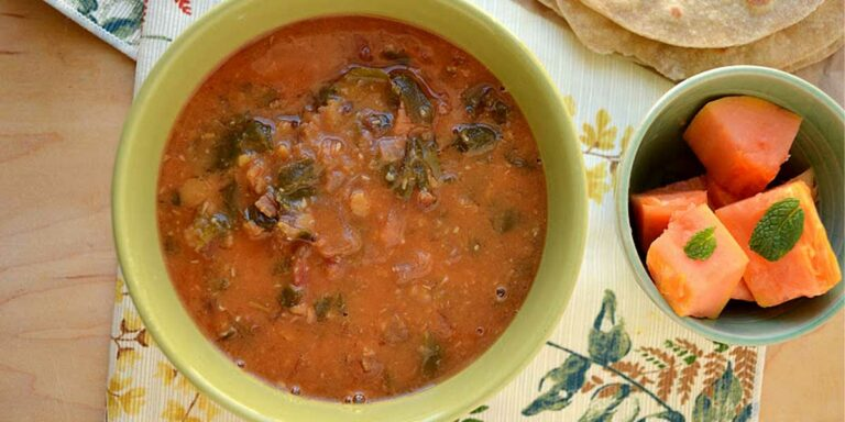 Dhaal – Lentils cooked with red chard