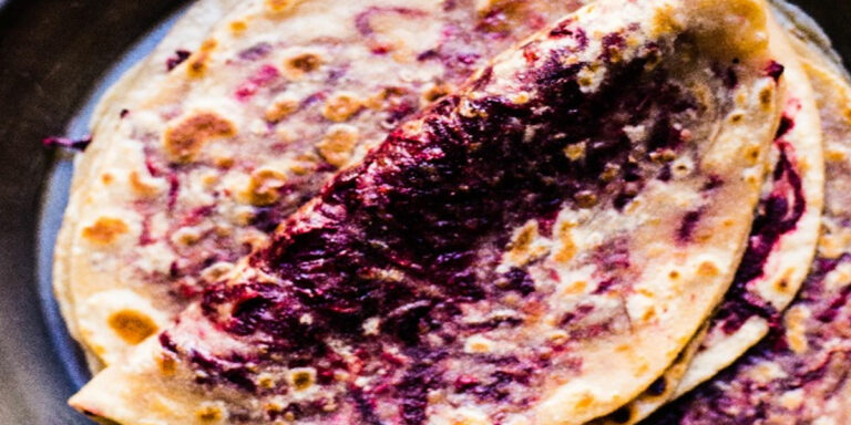 BEETROOT PARATHAS (BEERTROOT STUFFED INDIAN FLAT BREADS)