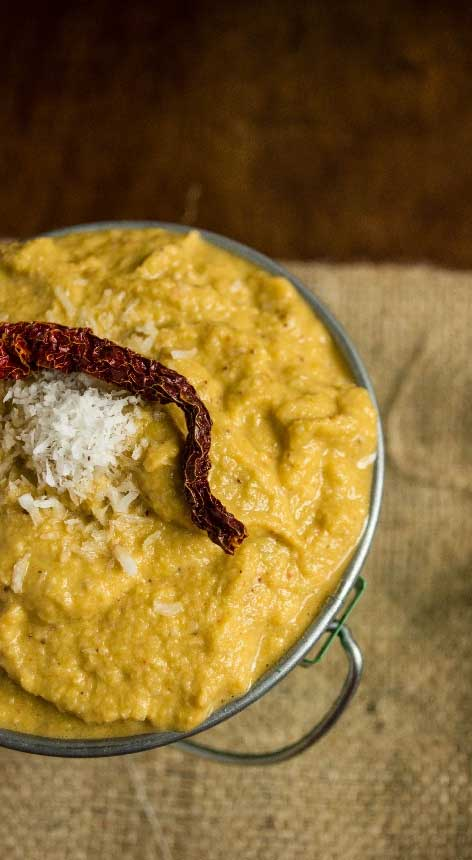 chow-chow-thogayal-creamy-south-indian-pesto-with-chayote-squash-skin