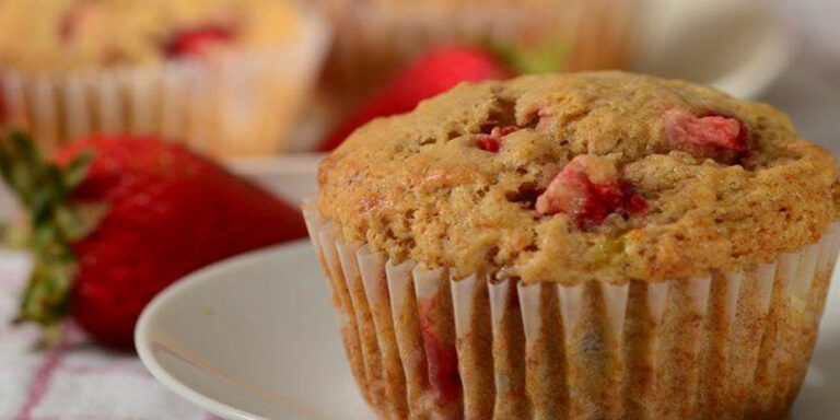 Kid's Snacks: Eggless Strawberry Banana Muffins