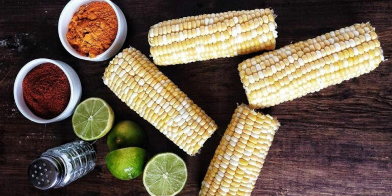 Fire Roasted Corn with Indian Spices