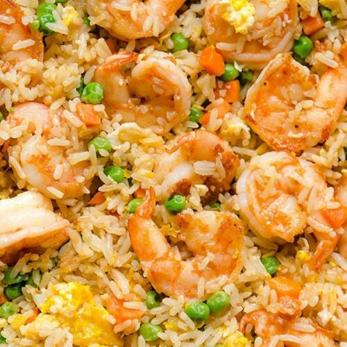 Fried Rice with Eggs and Shrimp