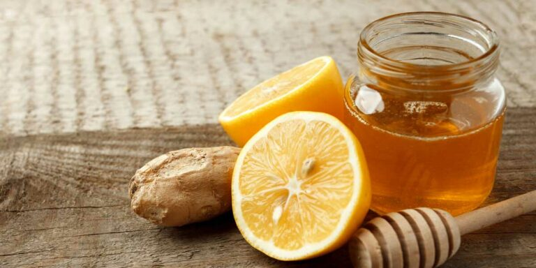 Ayurvedic Drink With Ginger, Lemon and Honey