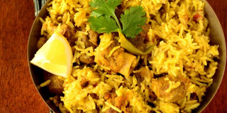 Chettinad lamb/mutton biryani – Karaikudi restaurant style recipe and the winner for the giveaway is