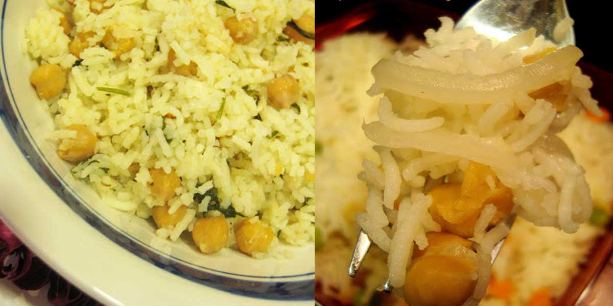 Pilaf / Pulao with Garbanzo Beans / Chick Peas