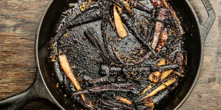 Roasted Purple Carrots Salad with South Indian Spices