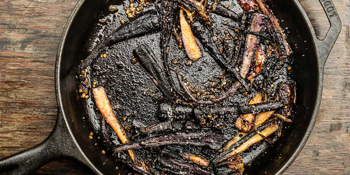 Roasted Purple Carrots Salad With South Indian Spicesa