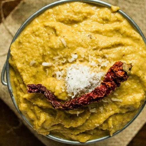 Chow-Chow Thogayal – South Indian Pesto with Chayote Squash Skin
