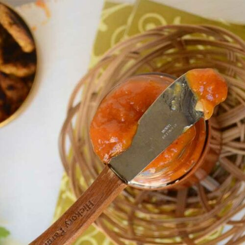 Sweet And Spicy Apricot Chutney