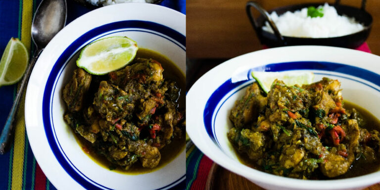 Pressure Cooker Method: Spinach Chicken | Palak Murgh