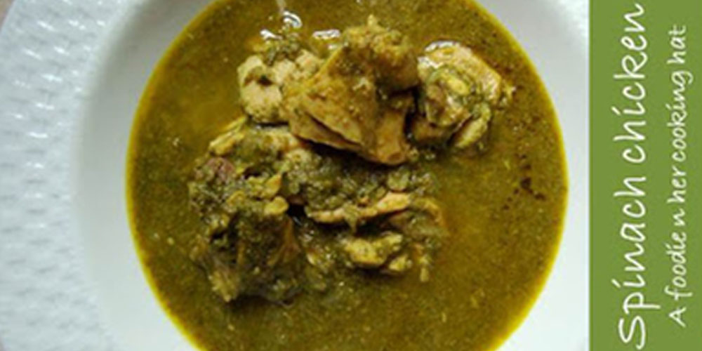 Chicken curry with tons of spinach