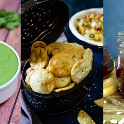 Indian Sweet and Spicy Chaat Chutney with Sev Papdi Recipe