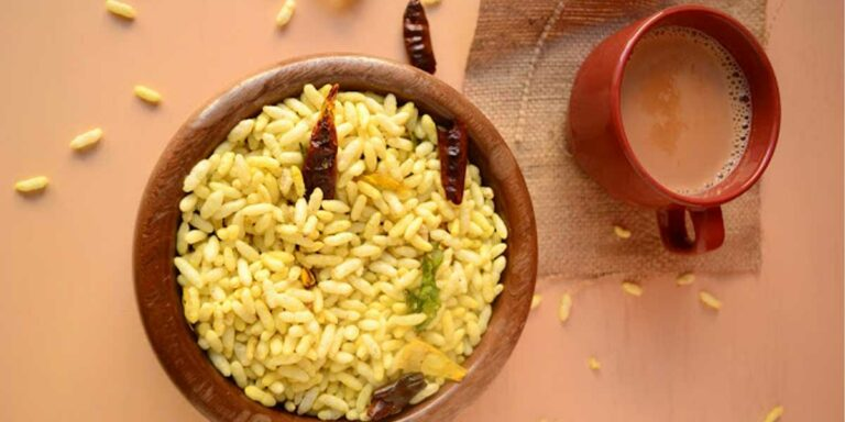 Spring picnic idea – Masala pori / phori / puffed rice with chai