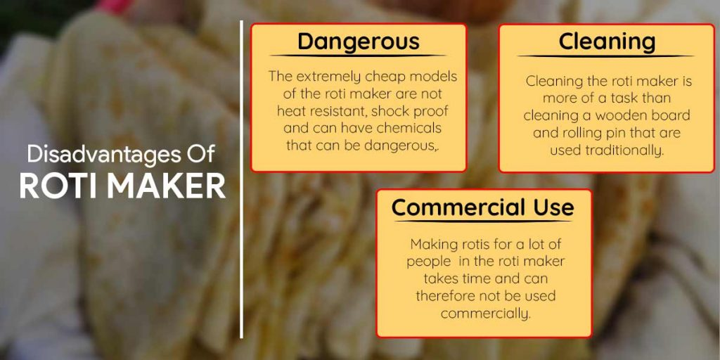 What Are The Disadvantages Of Roti Maker?